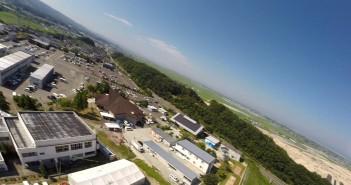 山元町公民館上空