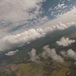 積雲の層に到達