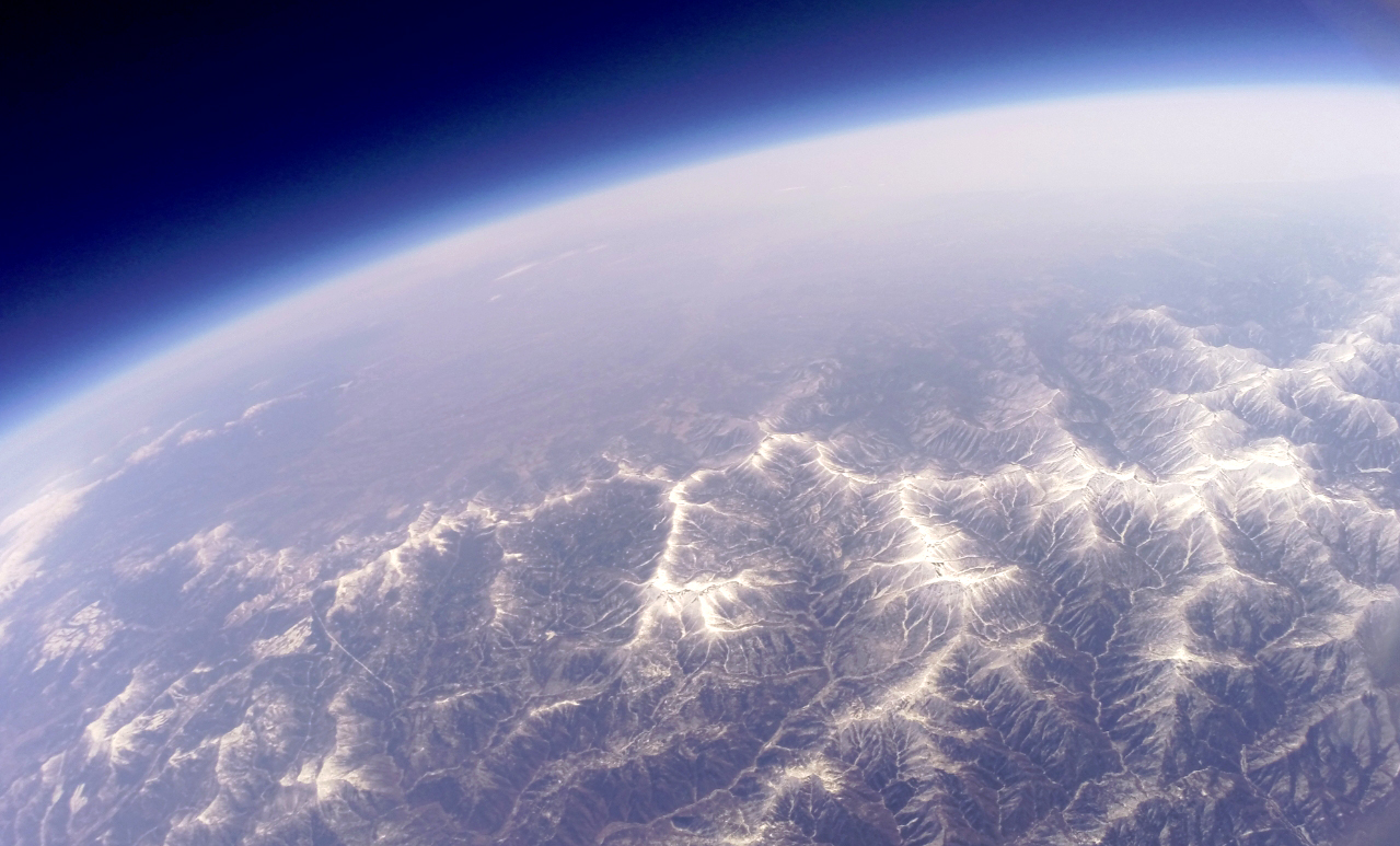 35号機で撮影した上空30km超からの十勝帯広 | ふうせん宇宙撮影