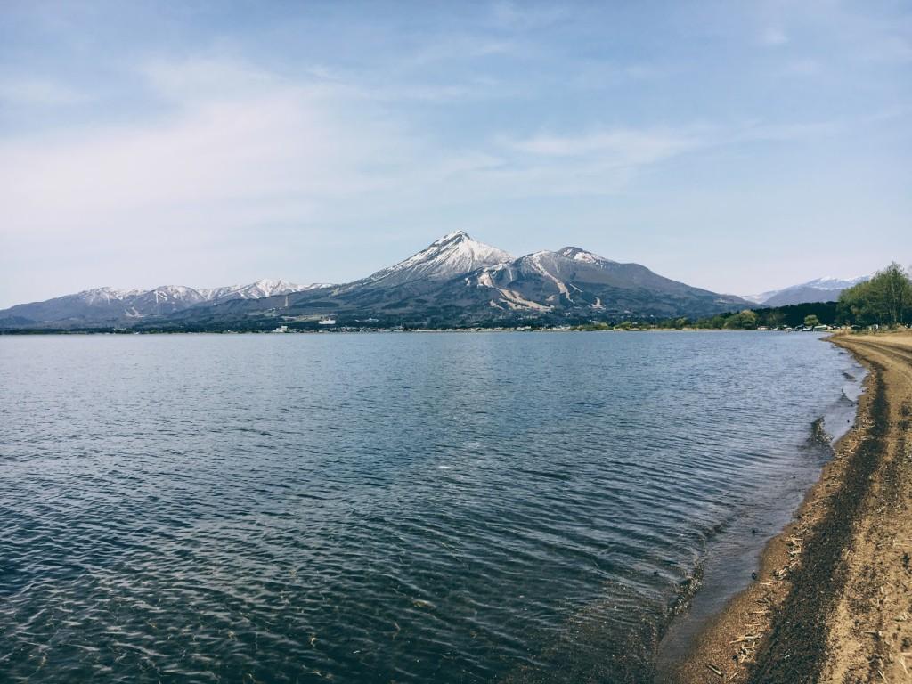 実験場 猪苗代湖